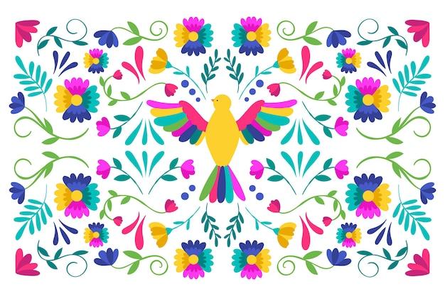 Flaches design des bunten mexikanischen bildschirmschoners