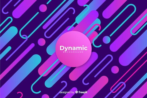 Flaches design des dynamischen hintergrundes der steigung
