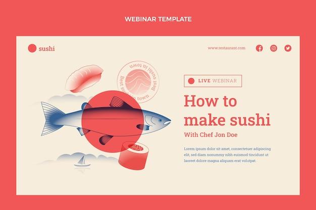 Flaches design des food-webinars