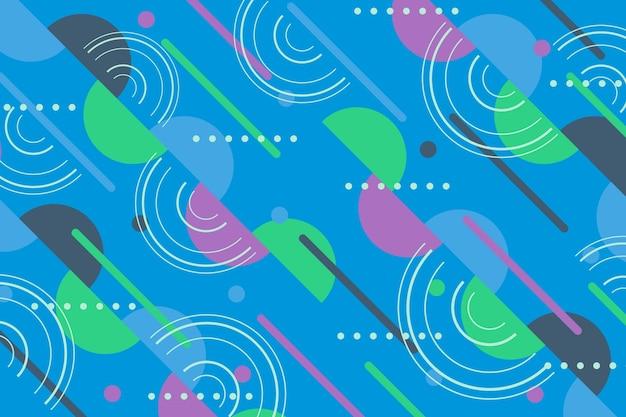 Flaches design des geometrischen formhintergrundes