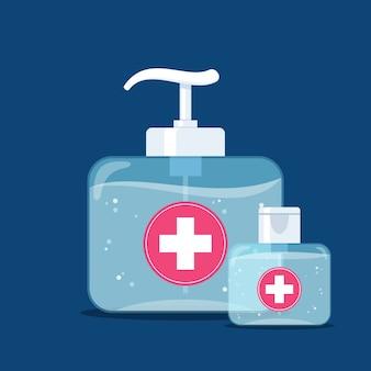 Flaches design des händedesinfektionsmittels