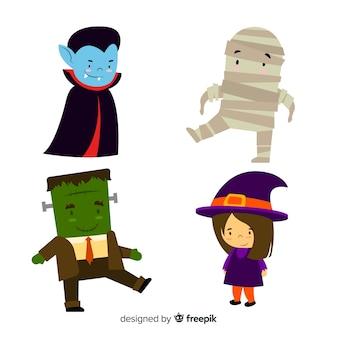 Flaches design des halloween-charakters