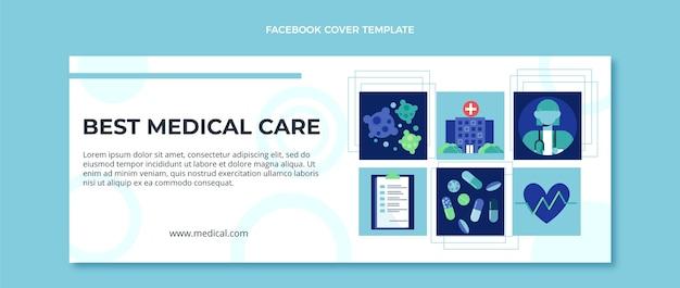 Flaches design des medizinischen facebook-covers