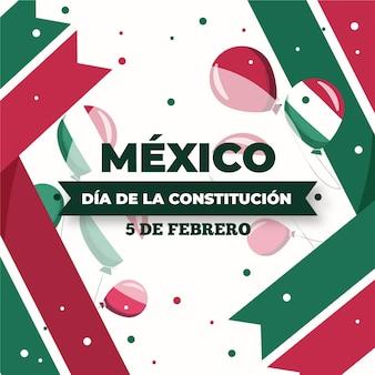 Flaches design des mexikanischen verfassungstages