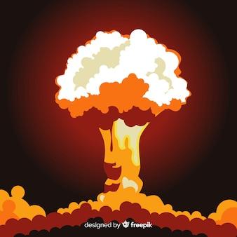 Flaches design des nuklearen explosionseffekts