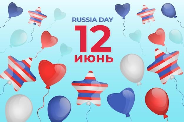 Flaches design des russland-tageshintergrunds