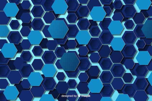 Flaches design des technologischen bienenwabenhintergrundes