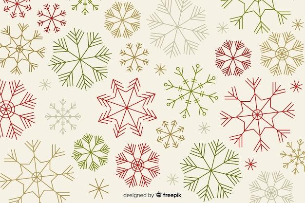 Flaches design des weihnachtshintergrundes