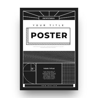Flaches design des y2k plakats