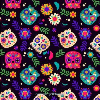 Flaches design día de muertos muster