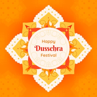 Flaches design dussehra