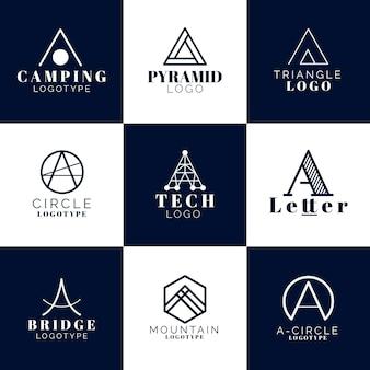 Flaches design eines logo-vorlagenpakets