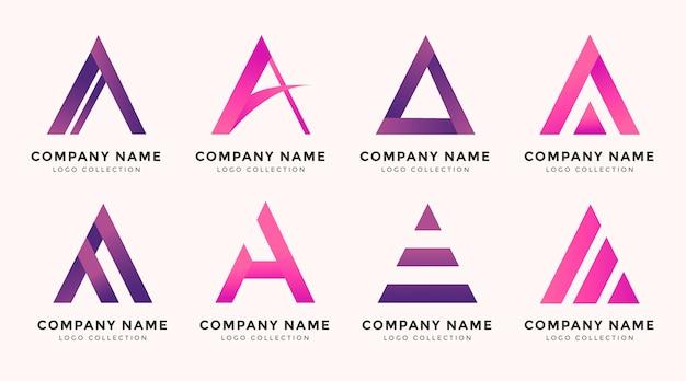 Flaches design eines logopakets