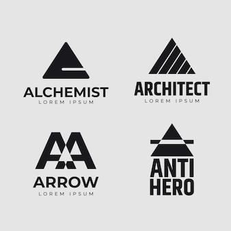 Flaches design eines logosets