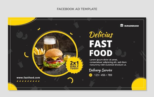 Flaches design fast-food-facebook-vorlage