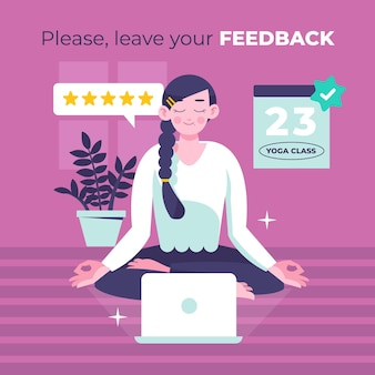 Flaches design-feedback-konzept