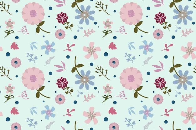 Flaches design floral seamless pattern hintergrund