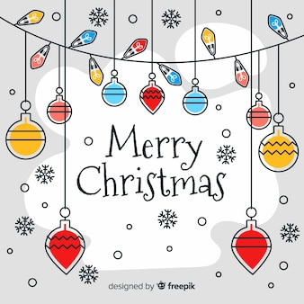 Flaches design frohe weihnachten hintergrund