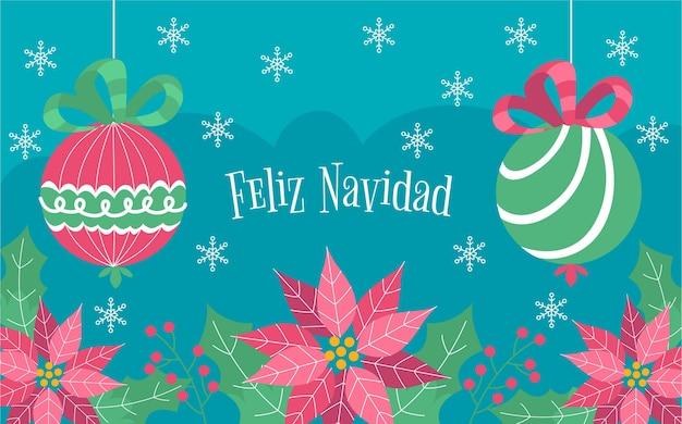 Flaches design frohe weihnachten