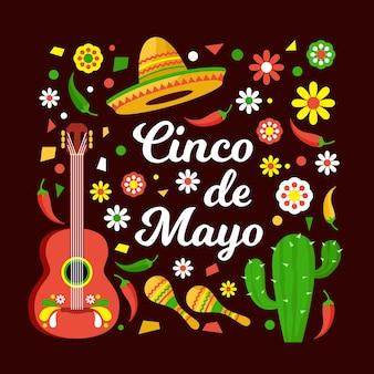 Flaches design für cinco de mayo