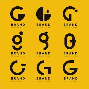 Flaches design g brief logo pack
