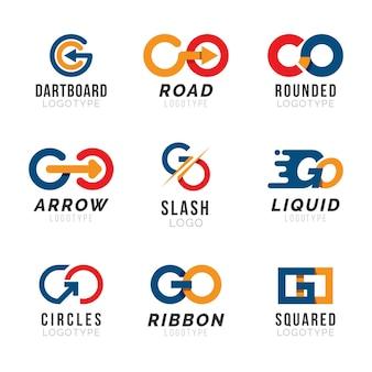 Flaches design gehen logo-vorlage
