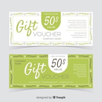 Flaches design-geschenkgutscheinpaket