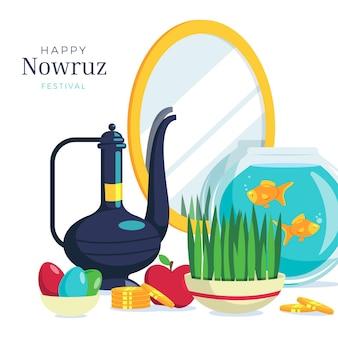 Flaches design glücklich nowruz