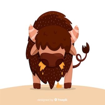 Flaches design großer büffel