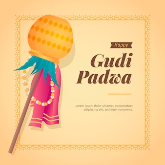 Flaches design gudi padwa design