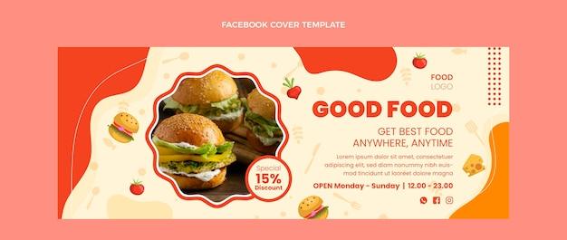 Flaches design gutes essen facebook-cover