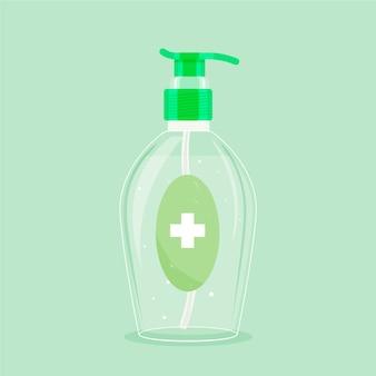 Flaches design händedesinfektionsgel mit pumpe