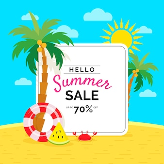 Flaches design hallo sommer sale