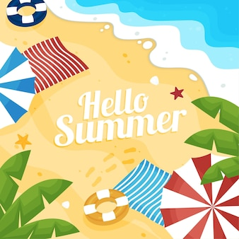Flaches design hallo sommer