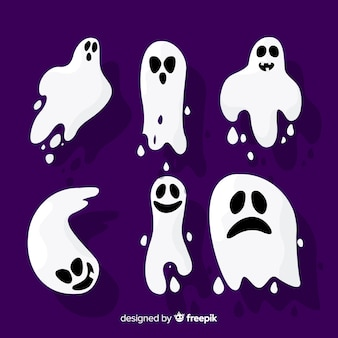 Flaches design halloween ghost collection