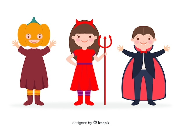 Flaches design halloween kinderkollektion