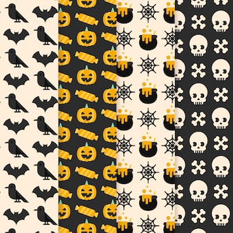 Flaches design halloween-muster