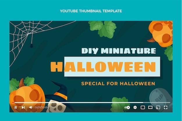 Flaches design halloween youtube thumbnail