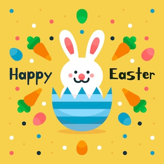Flaches design happy easter day design