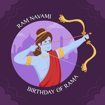 Flaches design happy ram navami day design