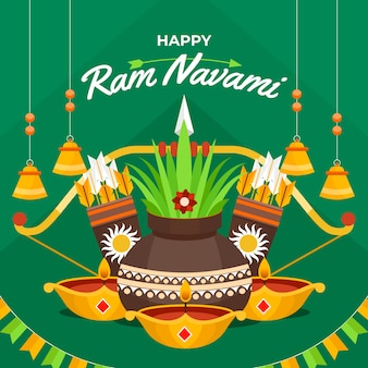 Flaches design happy ram navami design