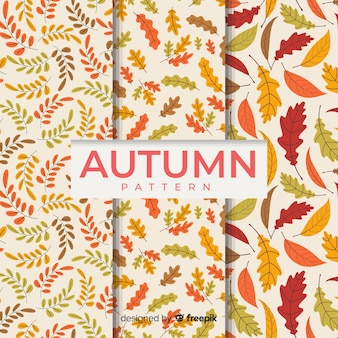 Flaches design herbst musterkollektion