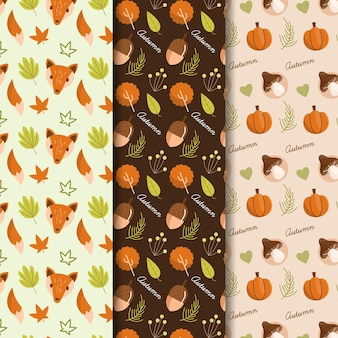 Flaches design herbstmusterkollektion