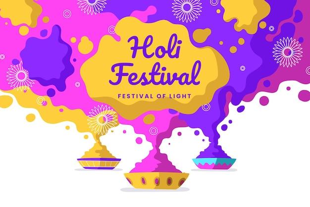 Flaches design holi festival
