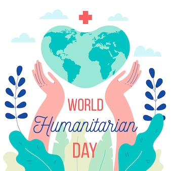 Flaches design illustrierte das humanitäre tagesereignis der welt