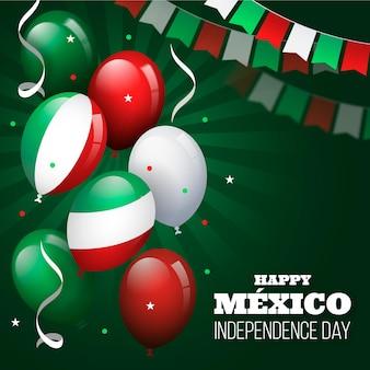 Flaches design independcia de mexiko ballon hintergrund