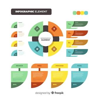 Flaches design infographik elemente
