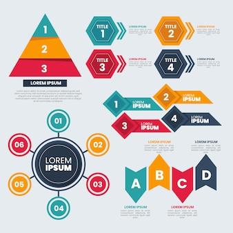 Flaches design infographik elementsammlung