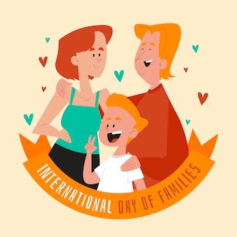 Flaches design internationaler tag des familienthemas