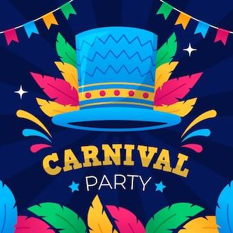 Flaches design karneval konzept